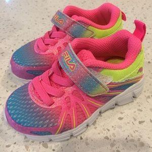 Fila Shoes - 5 infant sneakers New FILA velcro glitter colors
